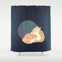 Happy Day Dreams Baby Fox Shower Curtain