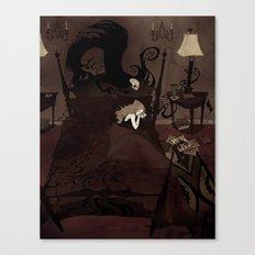 Pretend to Sleep Canvas Print