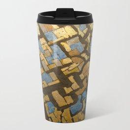 Gold cubic Eiffel tower close up Metal Travel Mug