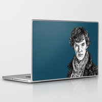 benedict cumberbatch Laptop & iPad Skins featuring Sherlock, Benedict Cumberbatch by Sharin Yofitasari