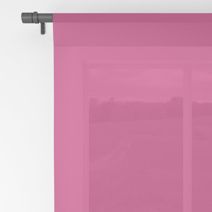 Fuchsia Pink - Solid Color Collection Sheer Curtain