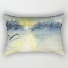 Flying Home - Great Blue Heron Rectangular Pillow