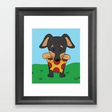 Paco Love Pizza Framed Art Print