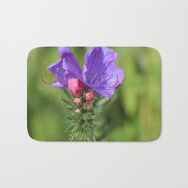 Viper's bugloss blue and pink flowers 2 Bath Mat