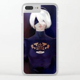 2B YoRHa Clear iPhone Case