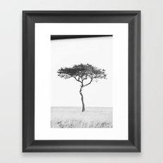 black&white::kenya Framed Art Print