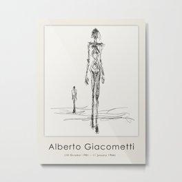 Poster-Alberto Giacometti-Silhouette of a woman. Metal Print
