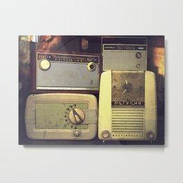 Radio Deluxe Metal Print