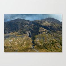 Waterfall In The Mountains (Reinheimen National Park, Norway) Canvas Print