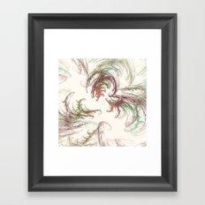 Harvest Winds Fractal Framed Art Print