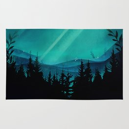 Magic in the Woods - Turquoise Rug