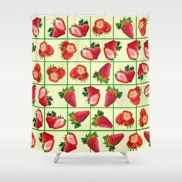Strawberries pattern Shower Curtain