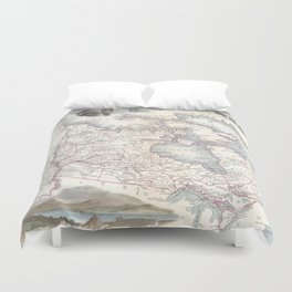 Vintage Map of Canada (1849) Duvet Cover