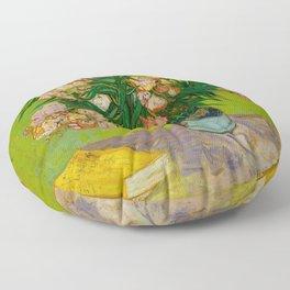 Oleanders Vincent van Gogh Oil On Canvas Floral Still Life Painting Floor Pillow