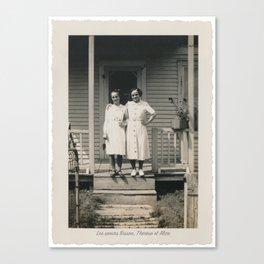 Les soeurs Bisson, Thérèse et Alice - The sisters Bisson, Therese et Alice Canvas Print