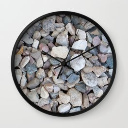 gravel texture Wall Clock