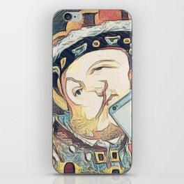 Tudor selfie iPhone Skin
