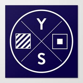 YS Logo - White Outline Canvas Print
