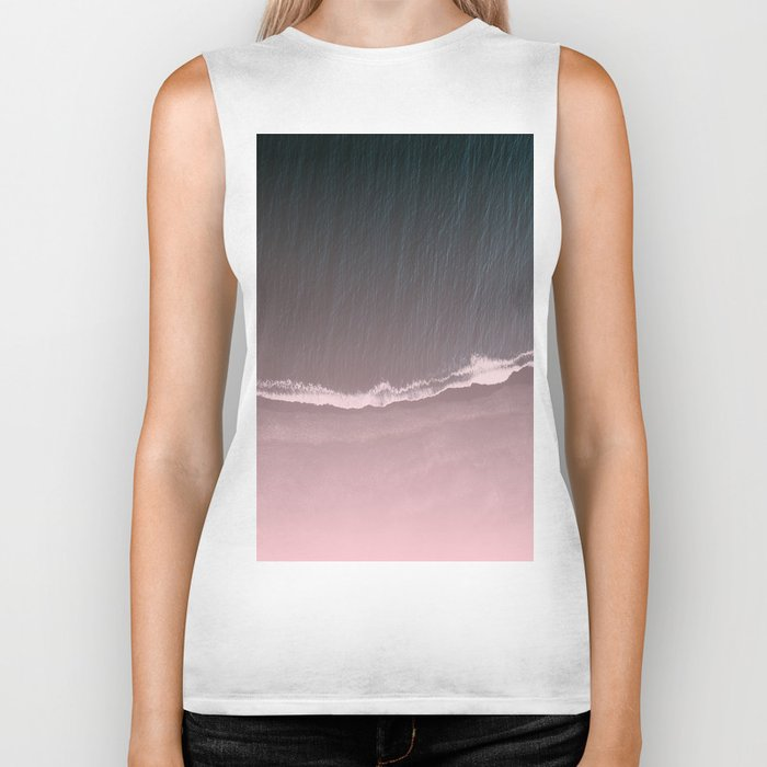 Fade into the sea Biker Tank
