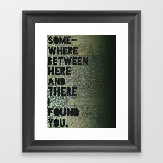 Here & There III Framed Art Print