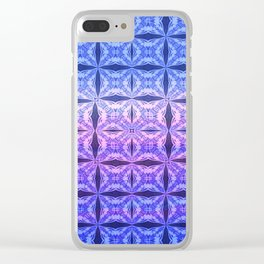 Sky Blue Fashion Clear iPhone Case