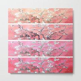 Vincent Van Gogh Almond Blossoms Panel Pink Peach Metal Print
