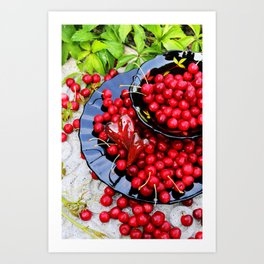 Red and black Art Print