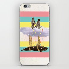 couple who travels on a cloud with a whale  iPhone & iPod Skin