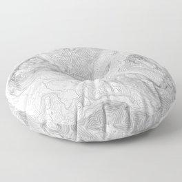 NORTH BEND WA TOPO MAP - LIGHT Floor Pillow