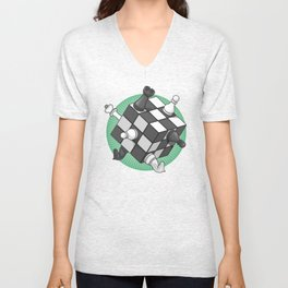 Rubik's chess Unisex V-Neck