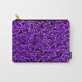 Chaotic white tangled ropes and violet dark lines. Carry-All Pouch