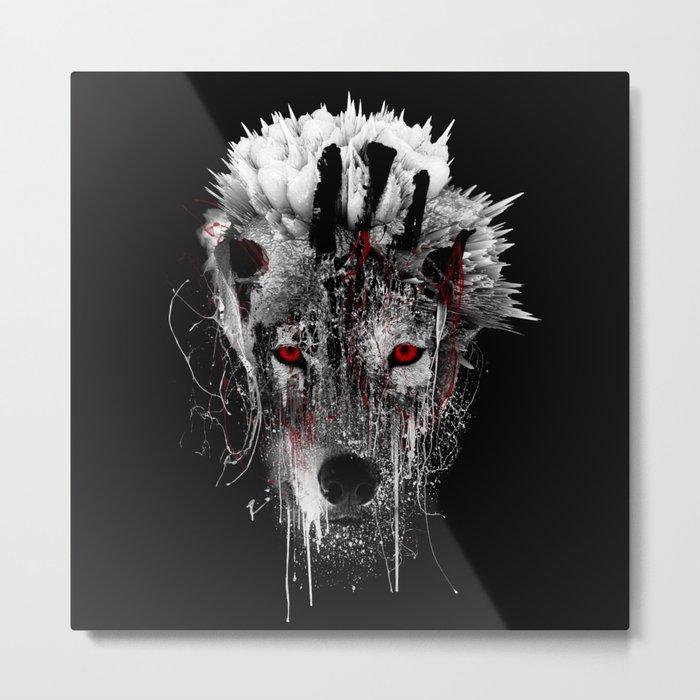 WOLF - RED EYE Metal Print