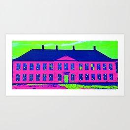 Roskilde Denmark popart pink Art Print