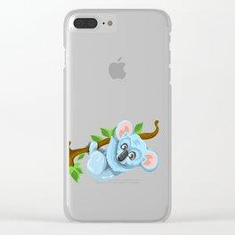 Beautiful koala bear illustration Clear iPhone Case