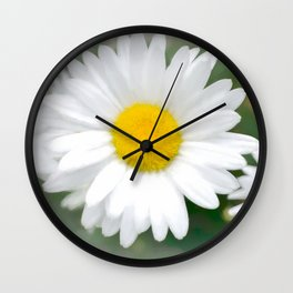 Daisies flowers in painting style 1 Wall Clock