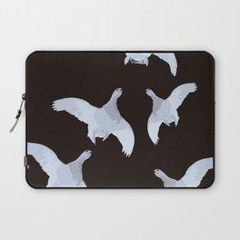 White Willow grouse Birds On A Black Background #decor #buyart #society6 Laptop Sleeve