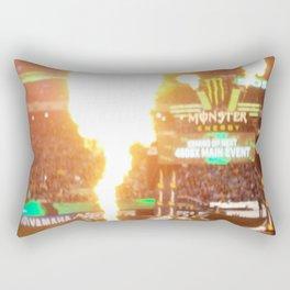 MX Supercross Explosive Fire Rectangular Pillow