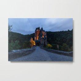 Photos Germany Burg Eltz castle Roads Forests Evening Cities Castles forest Metal Print