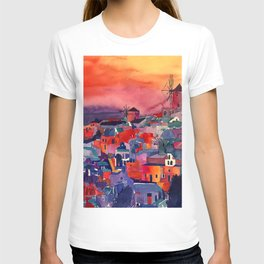 Sunset on Santorini T-shirt