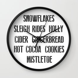 Christmas Favorites Wall Clock