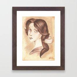 Bonjour, Elizabeth Framed Art Print
