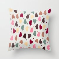 preppy Throw Pillows featuring Preppy Hearts by Welovepillows
