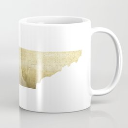 tennessee gold foil state map Coffee Mug