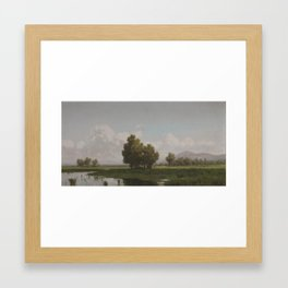 Francesco Lojacono (1838-1915), lakeside Framed Art Print