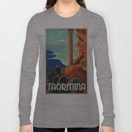 Vintage poster - Taormina Long Sleeve T-shirt