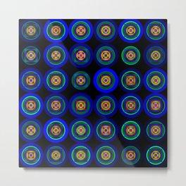 6x6 004 - blue abstract geometric pattern Metal Print