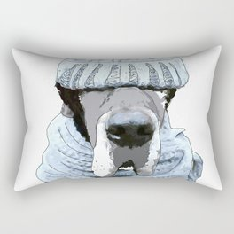 Great Dane Winter is Here Rectangular Pillow