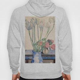 """Charles Rennie Mackintosh """"White tulips"""" Hoody"""