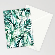 Green Tropical paradise  Stationery Cards