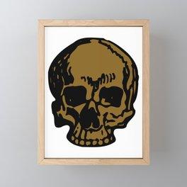 Brown Pirate Skull, Vibrant Skull, Super Smooth Super Sharp 9000px x 11250px PNG Framed Mini Art Print